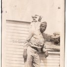 1940s African American Military Army Soldier Old Photo Vintage Black Americana