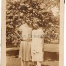 Antique Cute African American Young Women in Dresses Old Photo Black Americana