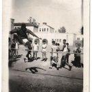 Vintage African American Photo Athletic Boy Children People Old Black Americana