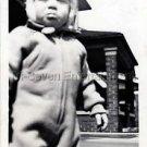 1940s Vintage Sad Boy Not Happy Kid Old Photo B&W Little Children American USA