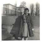 Vintage African American Photo Cute Young Girl in Overcoat Old Black Americana