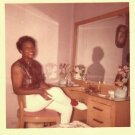 Vintage African American Photo Cute Woman in Front of Mirror Old Black Americana
