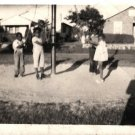 Vintage African American Photo Young Children Playing Outside Black Americana