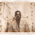 1950s Vintage Handsome African American Man Mustache Suit Old Photo Black People