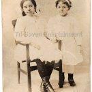 Antique Pretty African American Biracial Girls Photo Black Americana Children