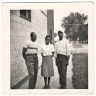 1960s Vintage Nicely-Dressed African-American People Standing Outside Old Photo