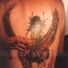1980s Vintage Tattoo Photo Man Back Sexy Unicorn Body Art Design Tattooed Flash