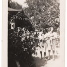1950s-60s Two Young African-American Women w/Their Babies Old Photo Black People