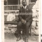 Antique African American Photo Well Dressed Handsome Man Men Old Black Americana