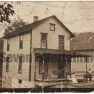 Antique African American House Family Real Photo Postcard RPPC Black Americana