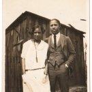 Antique African American Cute Couple Photo Man Woman Dress Suit Black Americana