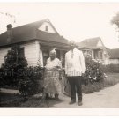 50s Older African American Woman Man Couple House Vintage Old Photo Black People