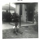 Vintage African American Photo Cute Boy on Grass Children Old Black Americana