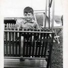 1940s Vintage Handsome Boy Posing Cute Old Photo B&W Little Children American US