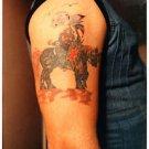 1980s Vintage Tattoo Photo Arm Ink Body Art Design Artist Color Tattooed Flash