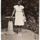 Vintage African American Photo Pretty Woman in Dress Old Black Americana