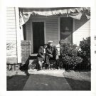 Vintage African American Photo Older Couple By Steps Old Black Americana