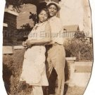 1930s Cute African American Couple Hugging Old Photo Antique Man Black Americana