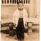 Vintage African American Cute Little Boy Medium Old Photo Booth Black Americana