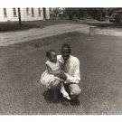 Vintage African American Photo Young Man w/ Baby Girl Children Black Americana