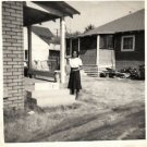 Vintage African American Photo Pretty Woman Front of House Old Black Americana
