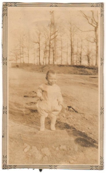 Antique African American Photo Cute Baby in Woods Old Black Americana