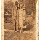Antique African American Couple Pretty Woman Handsome Man Old Photo Black People