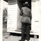 Vintage African American Photo Man in Coat Porch House Hat Old Black Americana
