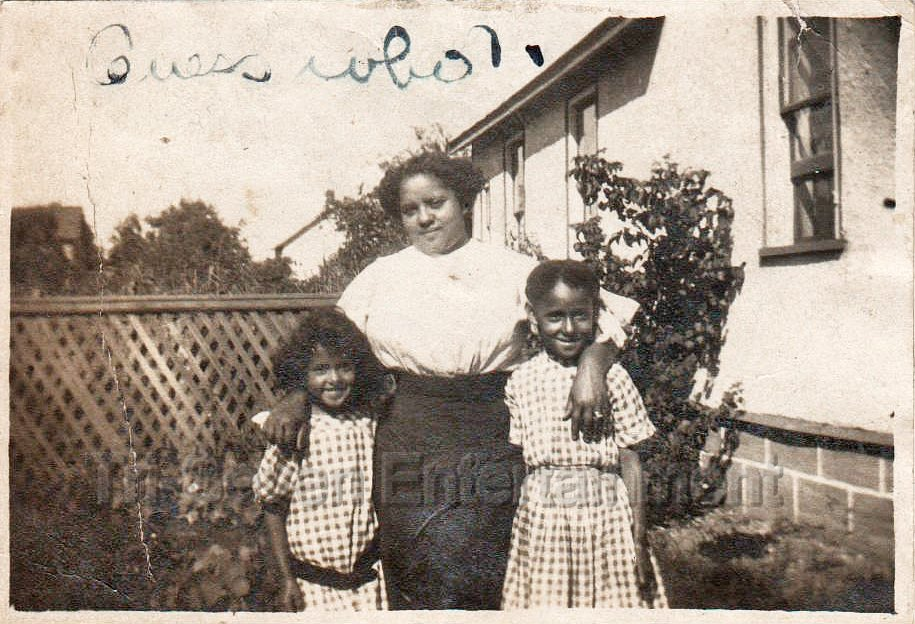 Antique Photo African American Woman w/Biracial Children Black Americana Girls