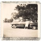 Vintage African American Photo Woman Front of Big Car People Old Black Americana
