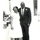 Vintage African American Photo Smiling Couple Man Woman Old Black Americana