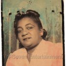 Vintage African American Woman Medium Hand Colored Photo Booth Black Americana