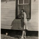 Antique Pretty African American Woman Posing Outside Old Photo Black Americana