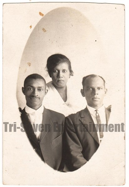 Antique African American Photo Group Real Photo Postcard RPPC Black Americana