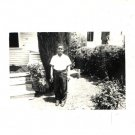 Vintage African American Handsome Young Boy Old Photo Children Black Americana