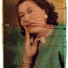 Vintage African American Photo Hand Colored Pretty Woman Old Black Americana