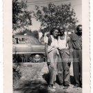 1954 Vintage African American Man Hugging Woman Old Photo People Black Americana