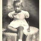 Antique African American Studio Photo Adorable Young Girl Old Black Americana