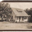 Antique African American Photo Woman Man in Front of House Old Black Americana