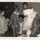 1978 Vintage African American Boy Santa Clause Christmas Photo Black Americana