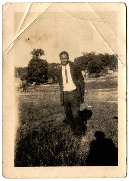 Antique African American Photo Well Dressed Young Man Suit Old Black Americana