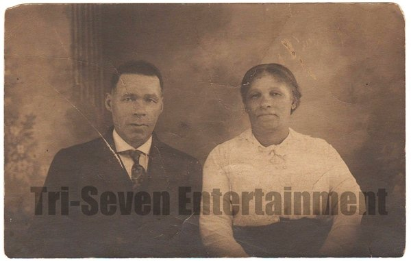 Antique African American Photo Man Woman People Family Group Old Black Americana