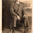 Antique Photo of Handsome African-American Man in Suit Real Photo Postcard RPPC