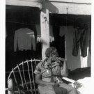 Vintage African American Photo Older Woman Sitting in Chair Old Black Americana