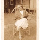 Antique African American Photo Pretty Older Woman Warm Smile Old Black Americana