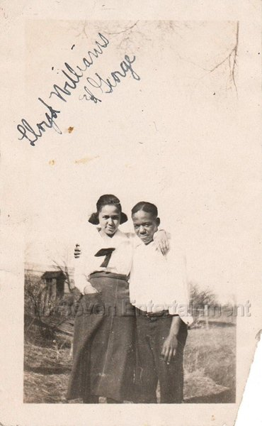 Antique Photo Good Looking Young African American Couple Black Americana People
