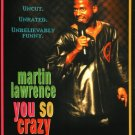 African American Collectible Movie BACKER CARD Martin Lawrence YOU SO CRAZY