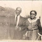 1938 Antique African American Older Man Woman Couple Old Photo Black Americana