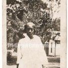 Antique African American Photo Pretty Dark Skinned Woman Old Black Americana