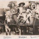 Antique African American Women Sombrero Real Photo Postcard RPPC Black Americana